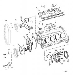 Схема INTAKE MANIFOLD AND FRONT COVER