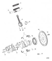 Схема Crankshaft / Piston/ Connecting Rods