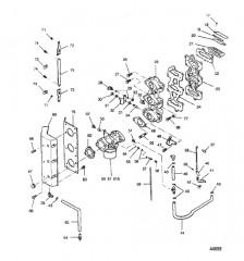 Схема Переходник и пластина пластинчатого клапана