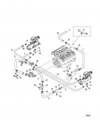 Схема Стандартная система охлаждения (ALPHA) (7-точечный слив)