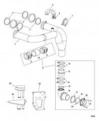 Комплект выводящей трубы глушителя X-Haust Стропильного типа, правый борт