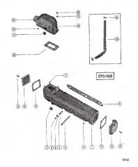 Выхлопной коллектор/коленчатый патрубок (370/400)