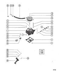 Схема Масляный фильтр и переходник (С/н 5669976 и выше)