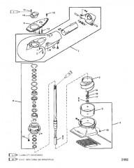 Схема Водометный насос в сборе (С/н 0G157845 и ниже)