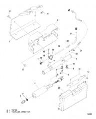 Схема Топливный насос и охладитель топлива (Система топливного охлаждения)