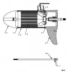 Схема Нижний блок в сборе (FW45 – с регулировкой скорости до 5)(8M0096825)