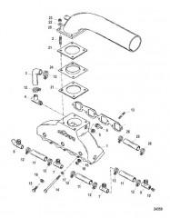 Компоненты выхлопного коллектора и выводящей трубы глушителя