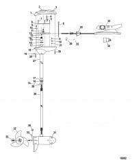 Двигатель для тралового лова в сборе (Модель FW46FB) (12 В)