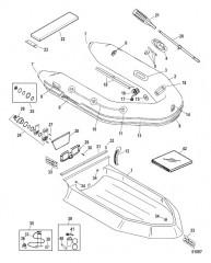 Схема Надувные лодки Dynamic из ПВХ – 250-310 (2012 и позднее)