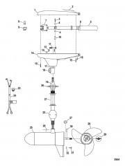 Двигатель для тралового лова в сборе (Модель GWB52W) (12 В)