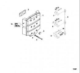 Схема Аттенюатор и рычаги газа карбюратора