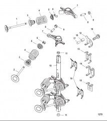 Схема Впускные/выпускные клапаны