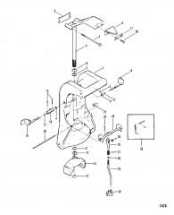 Схема Шарнирный кронштейн и блокировка реверса (Без усилителя дифферента)
