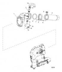 Схема Выводящая труба глушителя и выхлопные шланги 4дюйма, рядный (2A530774 и выше)