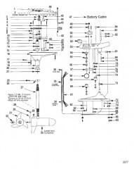 Двигатель для тралового лова в сборе (Модель 752V) (12 В)