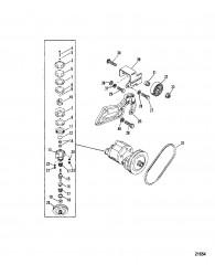 Seawater Pump Assembly (Serial # 0D725500 Thru 0D937011)
