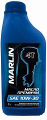 Масло MARLIN Премиум 4Т, SAE 10W-30 (1 литр)/полусинтетика Изображение 1