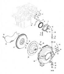 Схема Flywheel Housing