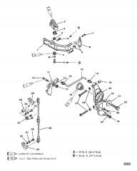 КРОНШТЕЙН ЯКОРЯ (SEAPRO/MARATHON) (С/Н 0G303045 И НИЖЕ)