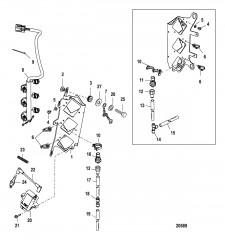 Схема Пластина катушки в сборе Серийный номер 1B490866 и выше