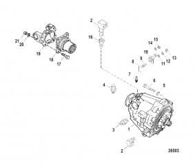 Схема Трансмиссия и компоненты (Карданная передача)