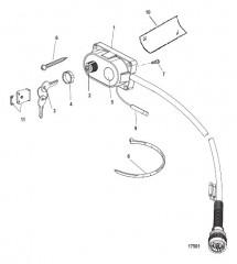 Схема Комплект ключа, обогатителя и устройства звукового сигнала 15000A14