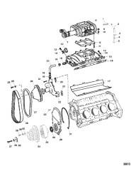 Схема Впускной коллектор и нагнетатель