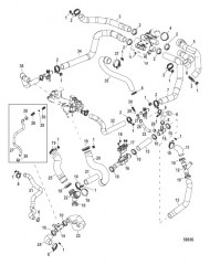Схема Охлаждение неочищенной водой Шланги системы охлаждения