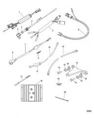 Схема Комплект усилителя рулевого механизма вспомогательного двигателя (8M0098553)