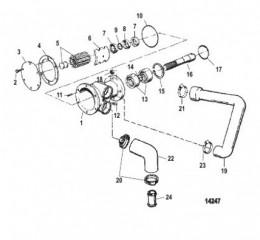 Схема Насос для забортной воды (2.8L)