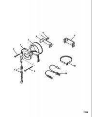 Схема Комплект переключателя с тросовым управлением
