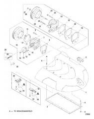 Схема INTAKE PLENUM AND FLAME ARRESTOR