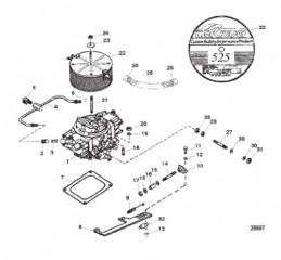 Схема Карбюратор и тяга