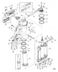 Схема Цилиндр усилителя дифферента/рулевого механизма
