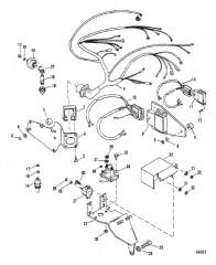 Схема ЭЛЕКТРОПРОВОДКА И ЭЛЕКТРИЧЕСКИЕ КОМПОНЕНТЫ (ЗАЖ. THUNDERBOLT IV)
