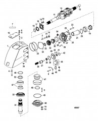 Схема Корпус карданного шарнира Сухой поддон Six/NXT6 SSM