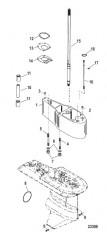 Схема Комплект удлинителя – 5 Корпус ведущего вала, 12092A19