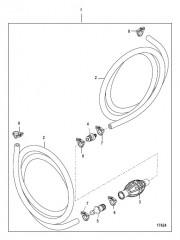 Схема Топливопровод в сборе (Без соединителей – шланг с низкой проницаемостью)