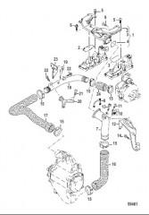 Схема Патрубки промежуточного охладителя воздуха