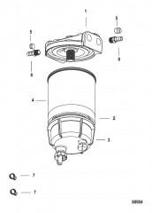 Комплект топливного фильтра водоотделителя Без датчика WIF – SeaPro