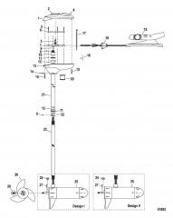 Двигатель для тралового лова в сборе (Модель FW40FB) (12 В)