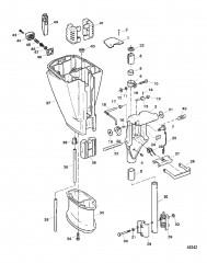 Схема Шарнирный кронштейн и корпус ведущего вала