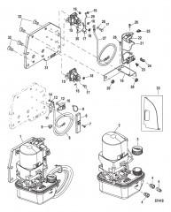 Схема Насос системы дифферента в сборе (Сухой поддон) 843017T03
