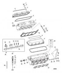 Схема Компоненты двигателя (Головка цилиндра)