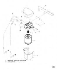 Схема Топливный фильтр (Система топливного охлаждения)