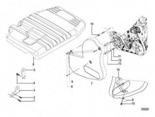 Схема Крышка двигателя и ремня