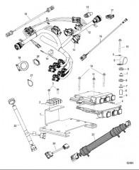Жгут проводов и кронштейн в сборе Сдвоенный двигатель