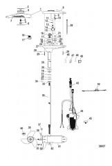 Двигатель для тралового лова в сборе (TR109PFB / TR109PFBD) (36 В)