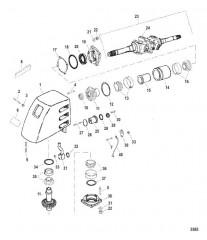 Схема Корпус карданного шарнира Мокрый поддон SSM VI (раннее исполнение, модели до 1998 г.)