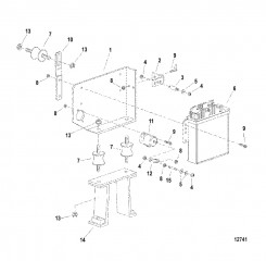 Блок управления и кронштейн  Старая конструкция для размещения ECM